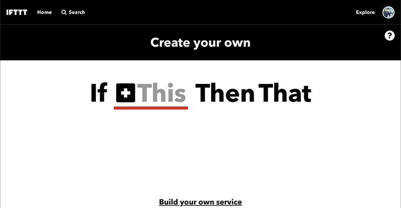 IFTTTのアプレットの作成01