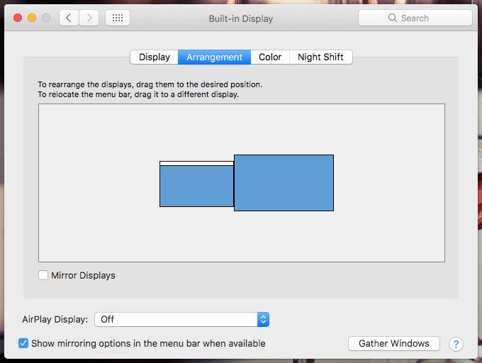 Macのデュアルモニターの表示設定