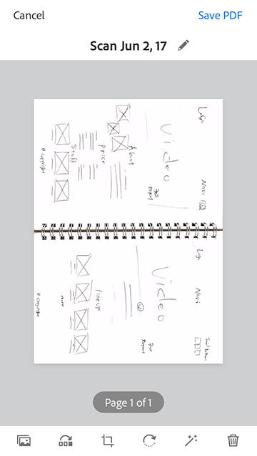 Adobe Scanの簡単な使い方 04