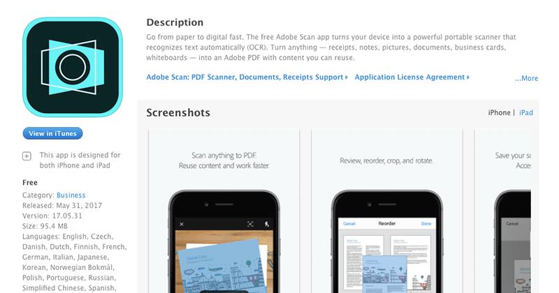 iOS / Androidで利用可能なAdobeのPDFスキャンアプリ『Adobe Scan』
