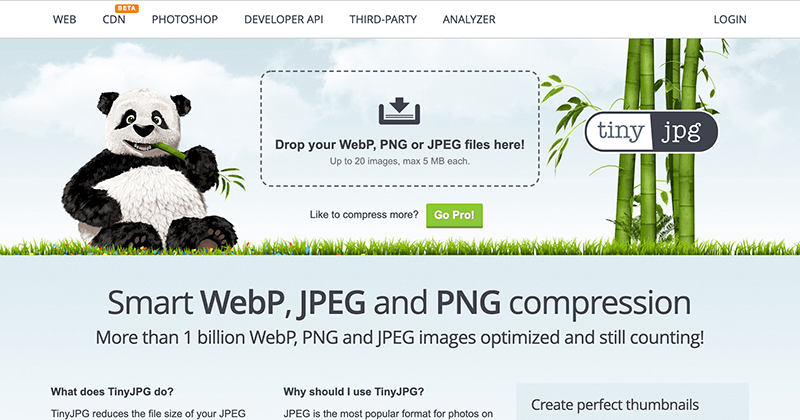 画像圧縮サービス「TinyJPG」