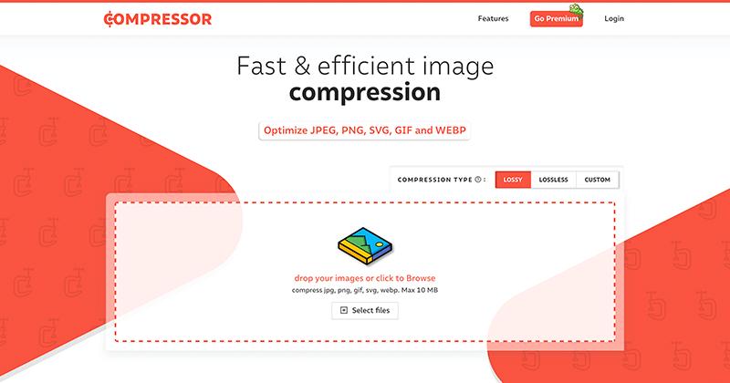 画像圧縮サービス「Compressor.io」