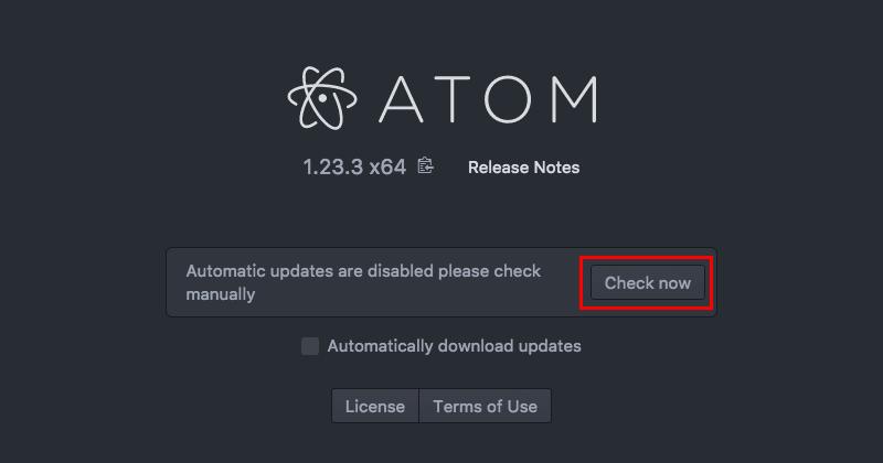 Atomエディタの手動アップデート02