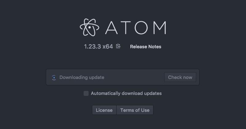 Atomエディタの手動アップデート03