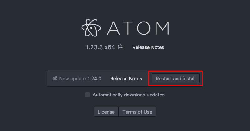 Atomエディタの手動アップデート04