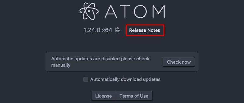 Atomエディタのダウングレード01