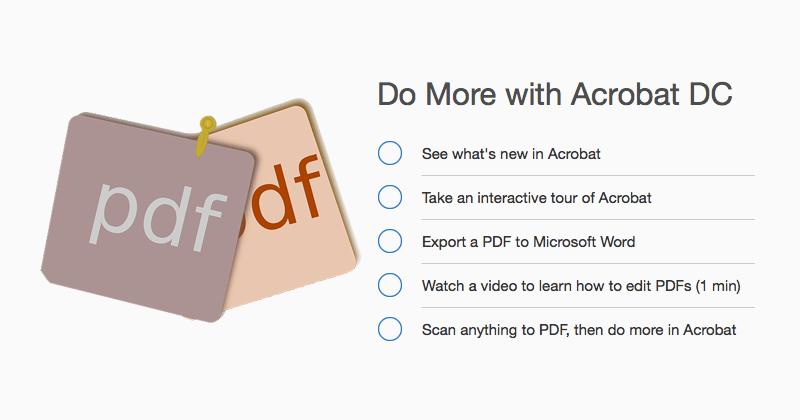 AdobeのAcrobat DCを使って複数のPDFファイルを結合する