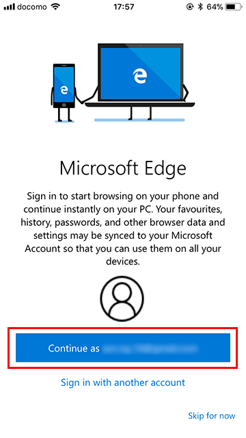 Microsoft Edgeアプリの使い方02