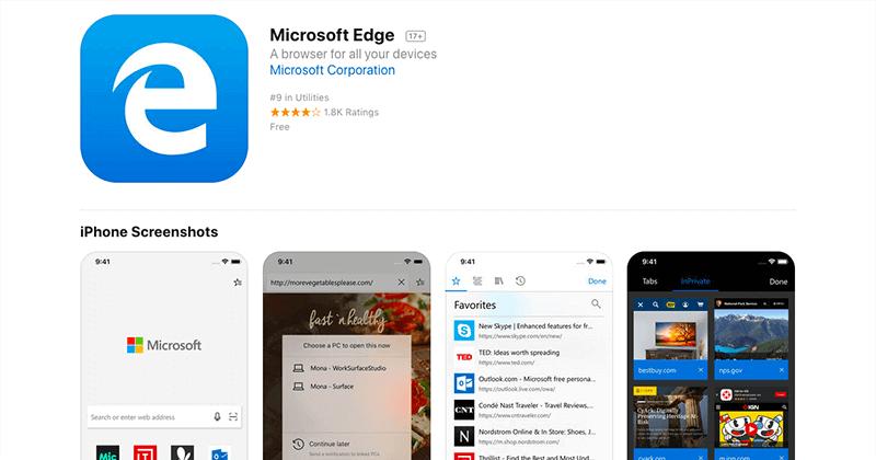 iOS版とAndroid版の「Microsoft Edge」ブラウザが提供開始