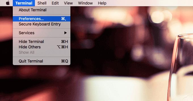Mac ターミナルの設定01