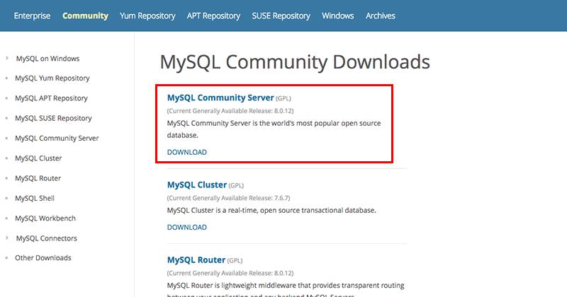 MacにMySQLをインストール03