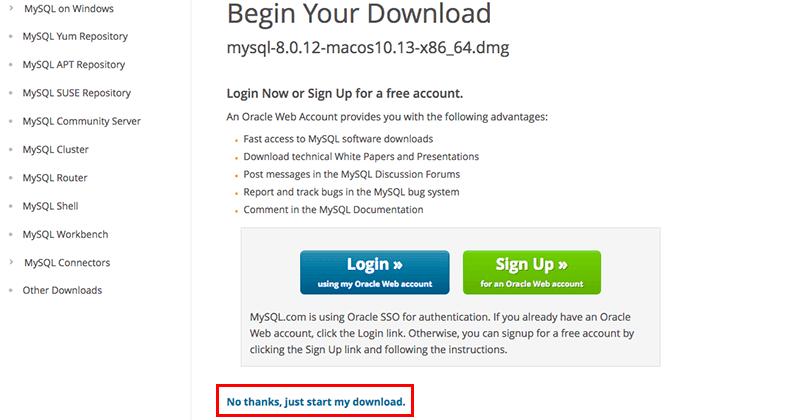 MacにMySQLをインストール05