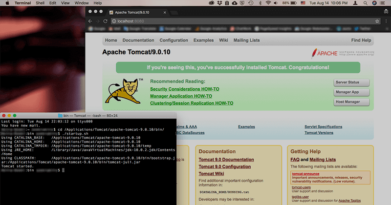 MacにTomcatをインストールする方法と簡単な使い方