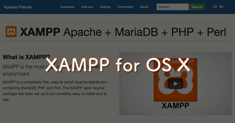 Mac用のXAMPPをインストール。ローカル開発環境の準備と簡単な使い方