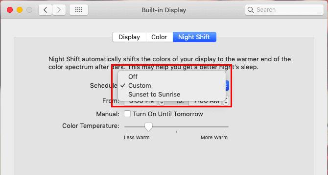 macOSのブルーライトカット機能の設定03