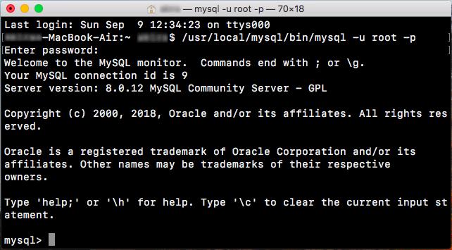 MySQLモニターの起動02