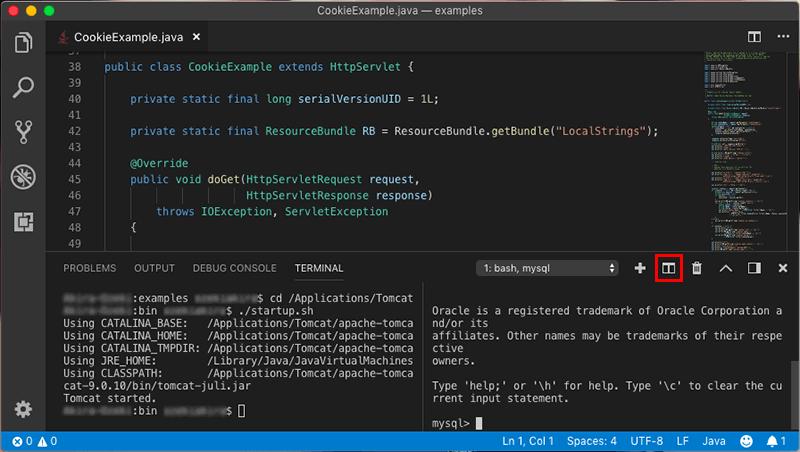 Visual Studio CodeのTerminalを分割