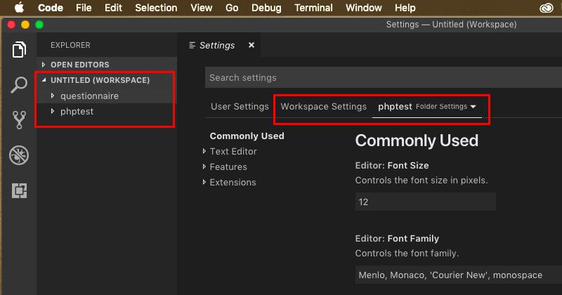 Visual Studio CodeでのWorkspaceの作成