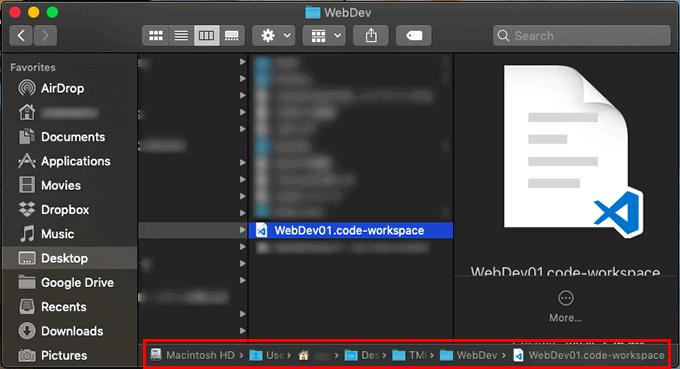 Visual Studio CodeでのWorkspaceの保存