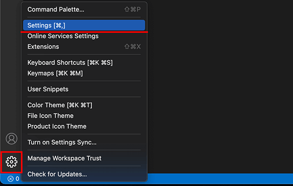 Visual Studio Codeの設定