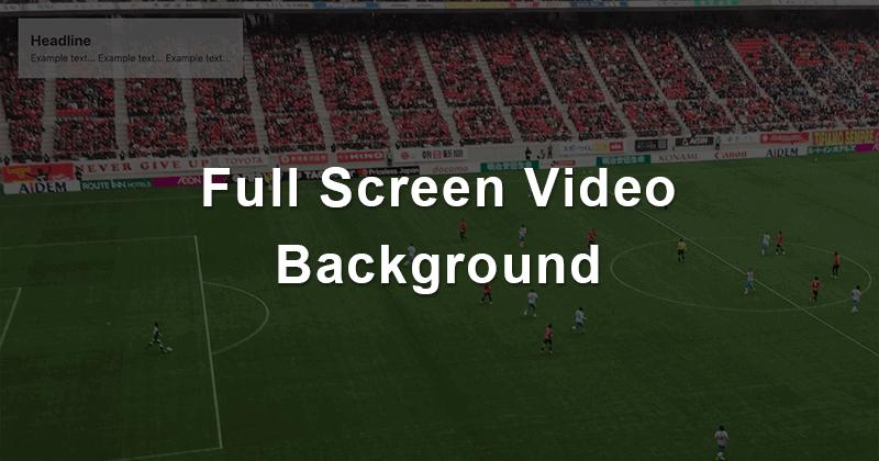 HTML5のvideoタグとCSSで動画を背景として画面全体に表示させる方法