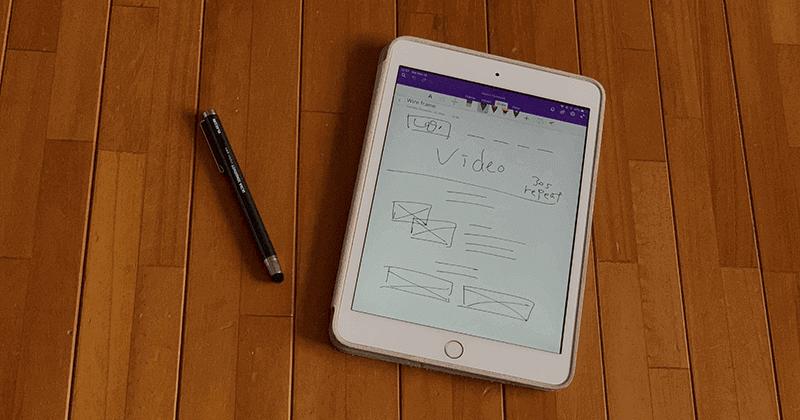OneNoteとタッチペンとiPadなどのタブレット端末で効率よく作業してPDFで保存