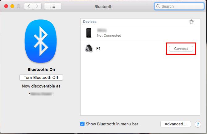 MacとワイヤレススピーカーをBluetooth接続