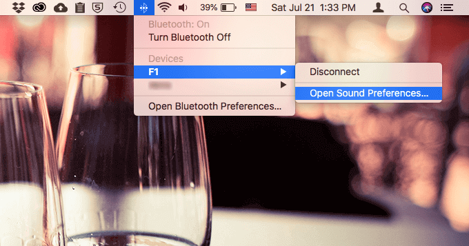 Macのスピーカーの設定変更