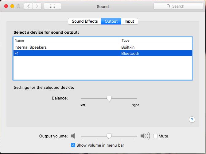 Macで利用するスピーカーの変更