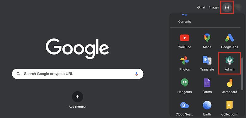 Google Workspaceの管理コンソールにログインする