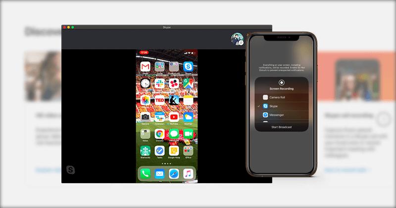 iPhoneやiPad、Android端末のSkypeで画面共有機能を利用する