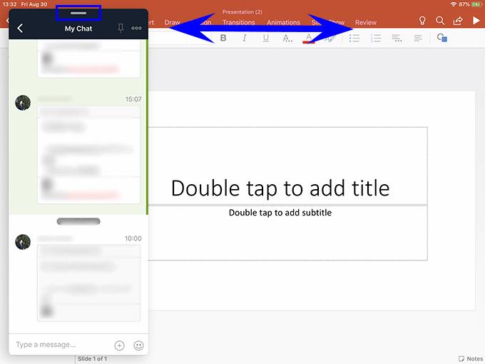 Slide Over機能のアプリの移動