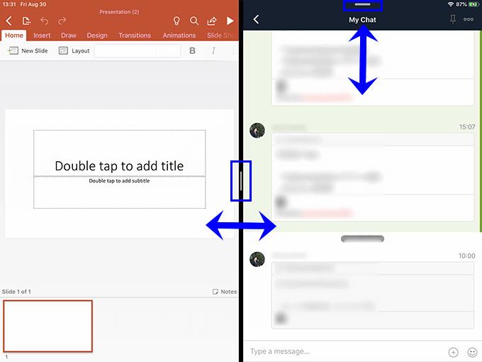 iPadのSplit Viewの使い方