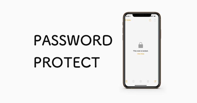 iPhoneやiPadの純正メモアプリのパスワード保護管理