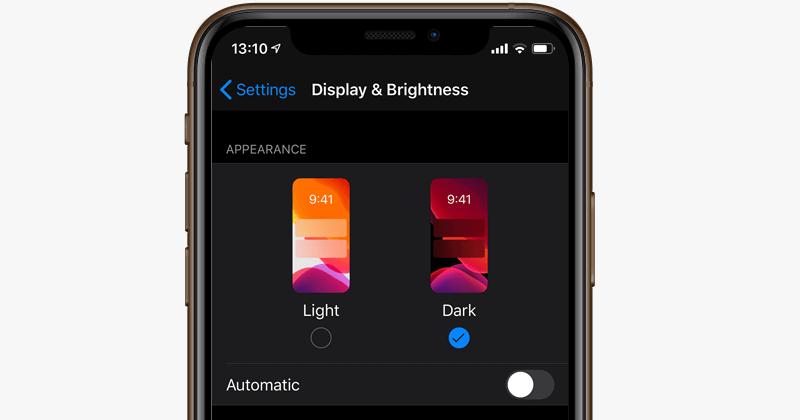 iOS 13やiPadOSから搭載されたiPhoneのダークモードの細かな設定