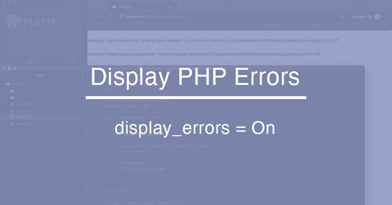 MAMPやXAMPPでのPHPプログラムのエラー表示設定