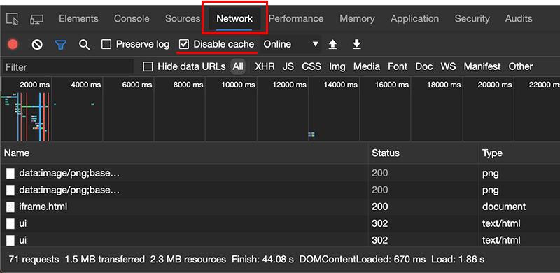 Chromium版 Microsoft Edgeのキャッシュの無効化