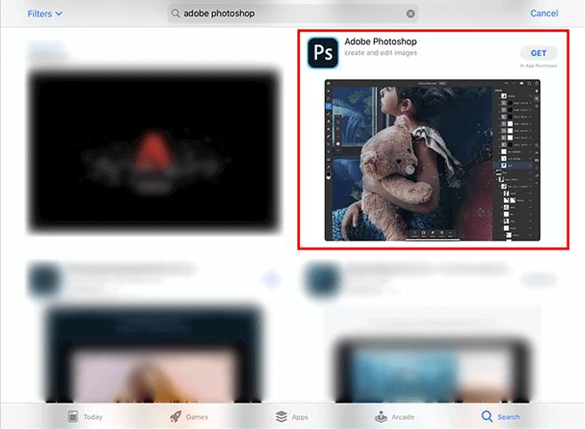 iPad版Photoshopのインストール