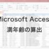 Microsoft Accessで関数を利用して満年齢の算出する