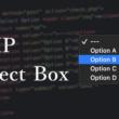 PHPでのフォームのセレクトボックスの利用と値の受け渡し