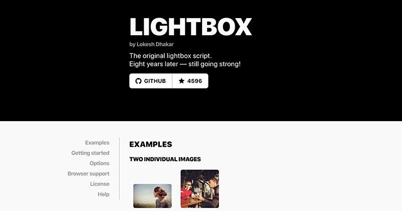 Lightboxの利用