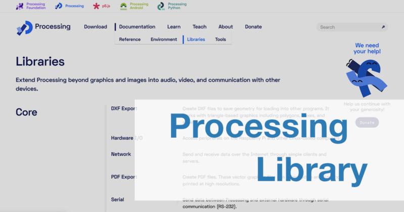 Processingのライブラリの利用