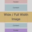 メインコンテンツより画像や動画のコンテンツ幅を広くするHTMLマークアップとCSS設計
