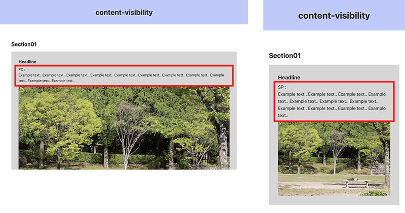content-visibilityプロパティで表示を切り替える