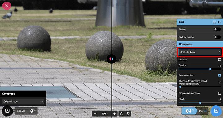 SquooshでJPEG XL(.jxl)画像を作成する