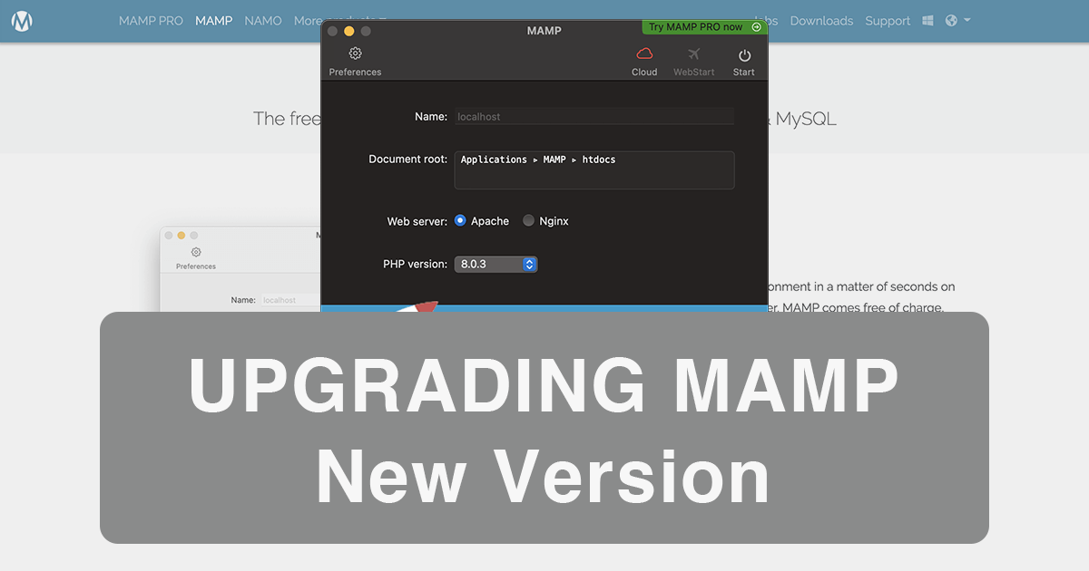 Macのローカル開発環境のMAMPをアップグレードする方法