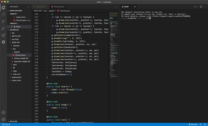 VSCodeでコードエディタとターミナルタブを分割画面で利用